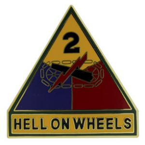 2nd Armored Division Combat Service I.D. Badge