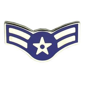 Air Force Airman 1st Class (Metal Chevron)