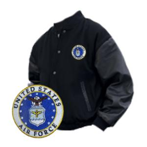 Varsity Legend Jacket (Black) with Air Force Logo
