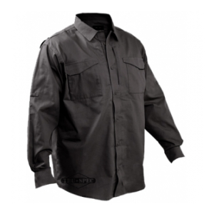 Tru-Spec 24/7 Series Long Sleeve Field Shirt (Black)