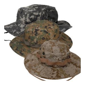 Wide Brimmed Poly Cotton Twill Boonie Hat