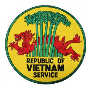 Republic of Vietnam Service (Back Patch)