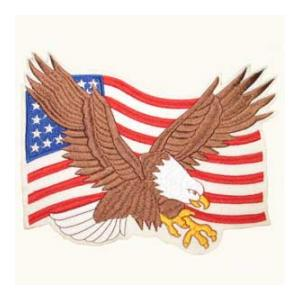 American Flag  with Eagle (Back Patch)
