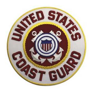 U.S. Coast Guard Round (Back Patch)