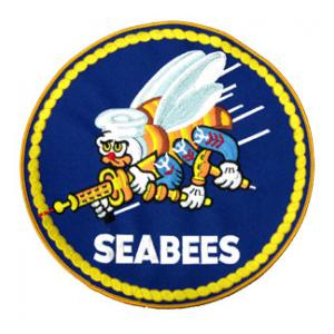 Navy Seabees Round (Back Patch)