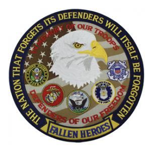 Fallen Heroes Back Patch