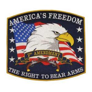 Americas Freedom The Right To Bear Arms (Back Patch)