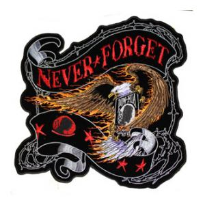 """Never Forget"" POW / MIA Eagle Back Patch"