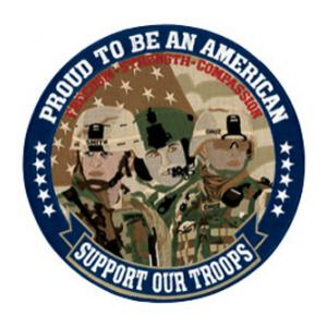 3 Faces of Freedom Proud to be an American Back Patch