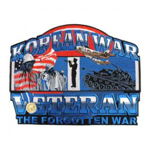 Korean War Veteran The Forgotten War Back Patch