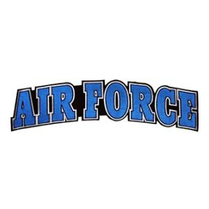 Air Force Text Back Patch