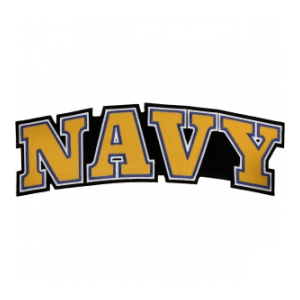 Navy Text Back Patch