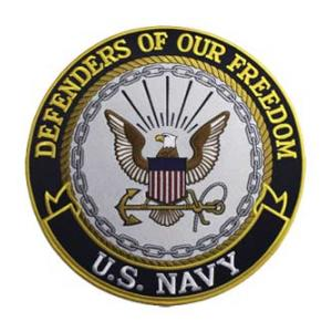 Defenders of Freedom U.S. Navy Round (Back Patch)