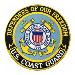 Defenders of Freedom U.S. Coast Guard Round (Back Patch)