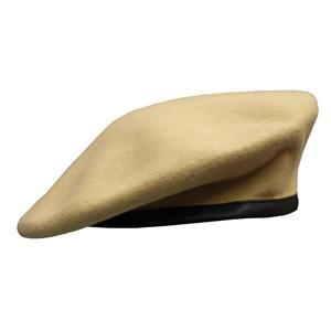 Military Beret (Leather Sweatband)(LightTan)