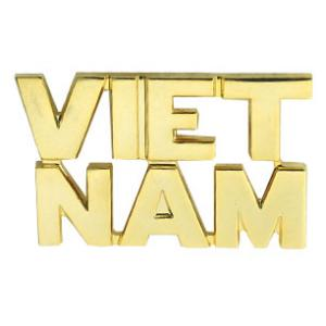Vietnam Letters Pin