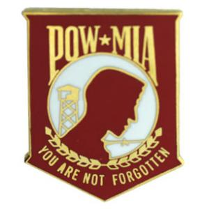 POW * MIA (Red) Pin