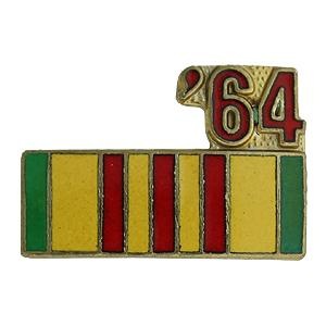 Vietnam Service Ribbon with 64 Pin