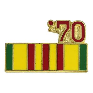 Vietnam Service Ribbon with 70 Pin
