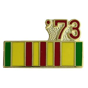 Vietnam Service Ribbon with 73 Pin