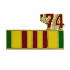 Vietnam Service Ribbon with 74 Pin