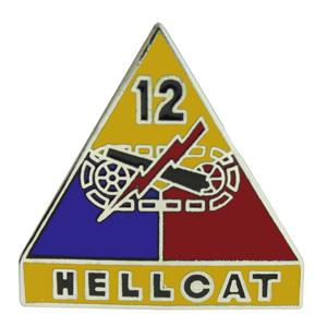 12th Armored Division Pin