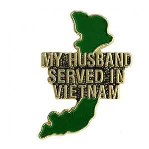 Vietnam My Husband Served Pin
