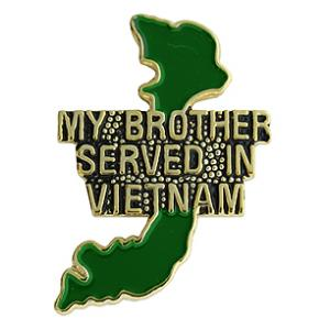 Vietnam My Brother Served Pin