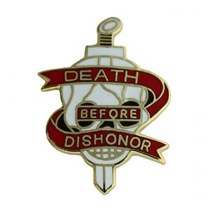 Death Before Dishonor Pin