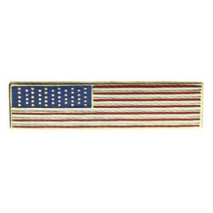 Rectangle American Flag Pin