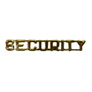 SECURITY Pin (Gold)