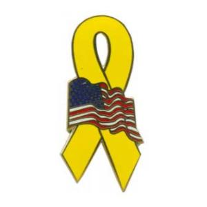 Yellow Ribbon with American Flag