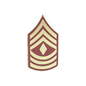 Marine 1st Sergeant E-8 Pin (Gold on Red)