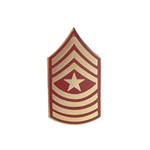 Marine Sergeant Major E-9 Pin (Gold on Red)