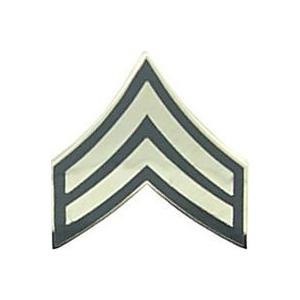 Army Corporal E-4 Pin (Gold on Green)