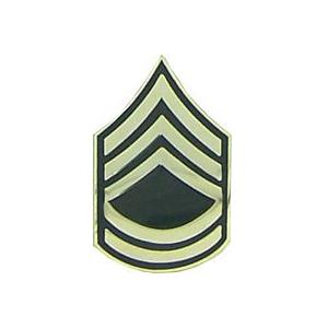 Army Sergeant First Class E-7 Pin (Gold on Green)