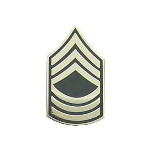 Army Master Sergeant E-8 Pin (Gold on Green)