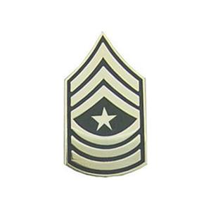 Army Sergeant Major E-9 Pin (Gold on Green)