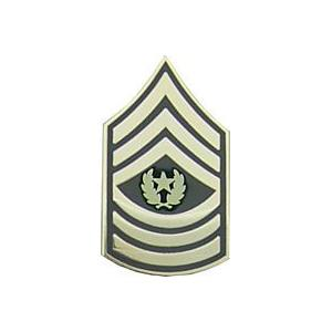 Army Command Sergeant Major E-9 Pin (Gold on Green)