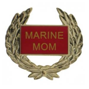 Marine Mom Wreath Pin