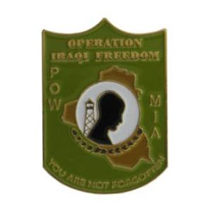 POW MIA Operation Iraqi Freedom You Are Not Forgotten Pin