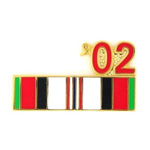 Afghanistan Service Ribbon with 02' Pin