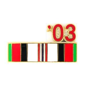 Afghanistan Service Ribbon with 03' Pin