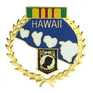 POW * MIA Hawaii Pin