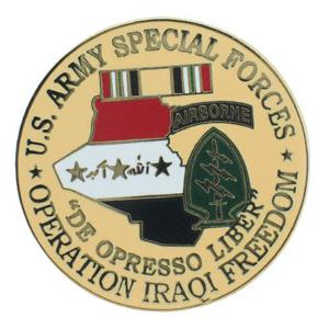Operation Iraqi Freedom U.S. Army Special Forces Pin