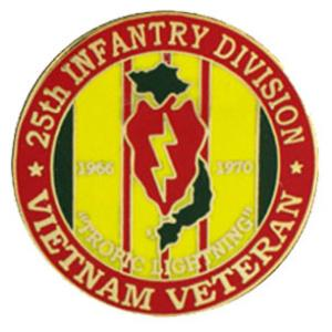 Vietnam Veteran 25th Infantry Division Pin