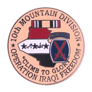 Operation Iraqi Freedom 10th Mountain Division Pin