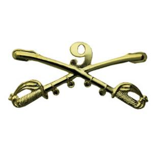 9th Cavalry Crossed Sabres Pin