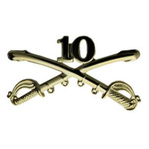 10th Cavalry Cross Sabres Pin