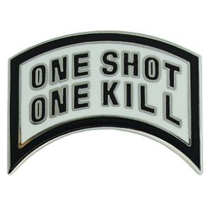 One Shot One Kill Tab Pin
